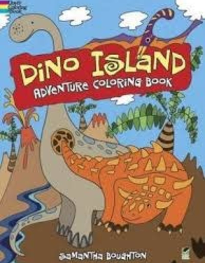 DOVER PUBLICATIONS DINO ISLAND ADVENTURE COLORING BOOK