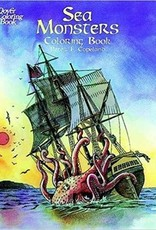 DOVER PUBLICATIONS SEA MONSTERS COLORING BOOK