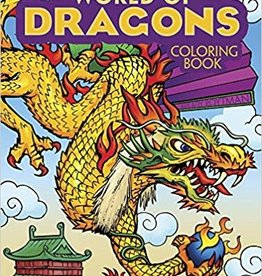 DOVER PUBLICATIONS WORLD OF DRAGONS COLORING BOOK