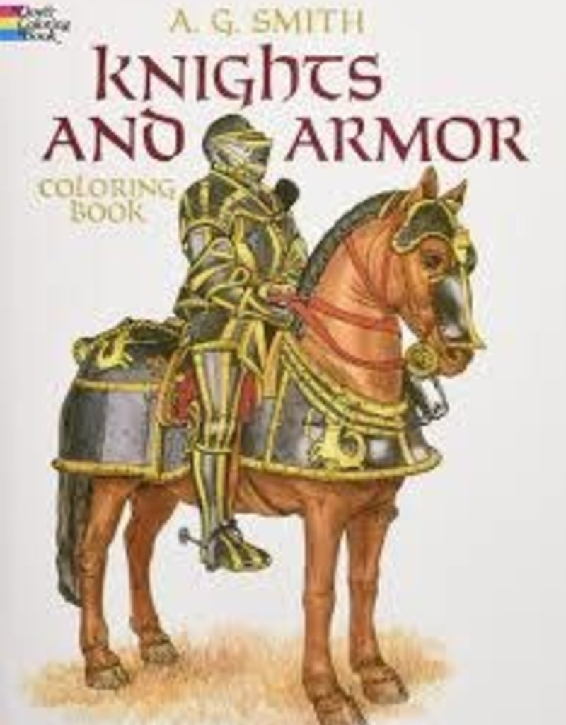 DOVER PUBLICATIONS KNIGHTS AND ARMOR COLORING BOOK