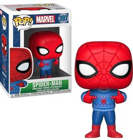 FUNKO POP MARVEL HOLIDAY SPIDER-MAN W/ UGLY SWEATER VINYL FIG