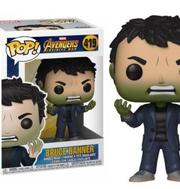FUNKO POP MARVEL INFINTY WAR S2 BRUCE BANNER VINYL FIG