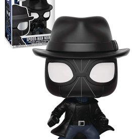 FUNKO POP SPIDER-MAN SPIDER-VERSE SPIDER-MAN NOIR WITH HAT VINYL FIG