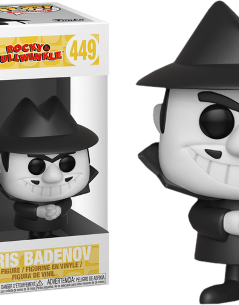 FUNKO POP ROCKY & BULLWINKLE BORIS BADENOV VINYL FIG