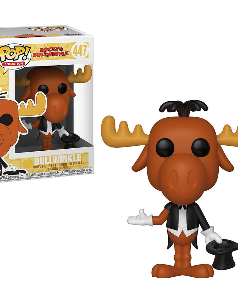 FUNKO POP ROCKY & BULLWINKLE BULLWINKLE AS MAGICIAN VINYL FIG