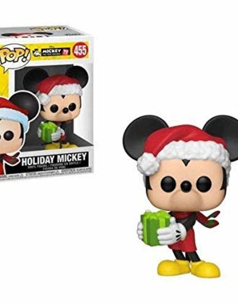 FUNKO POP DISNEY: MICKEY'S 90TH - HOLIDAY MICKEY VINYL FIG