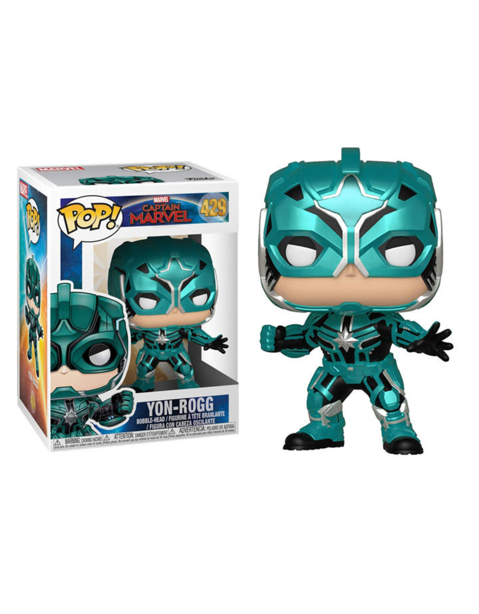 FUNKO POP CAPTAIN MARVEL YON-ROGG VINYL FIG