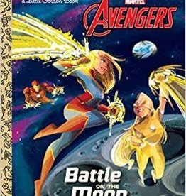 GOLDEN BOOKS AVENGERS BATTLE ON MOON LITTLE GOLDEN BOOK