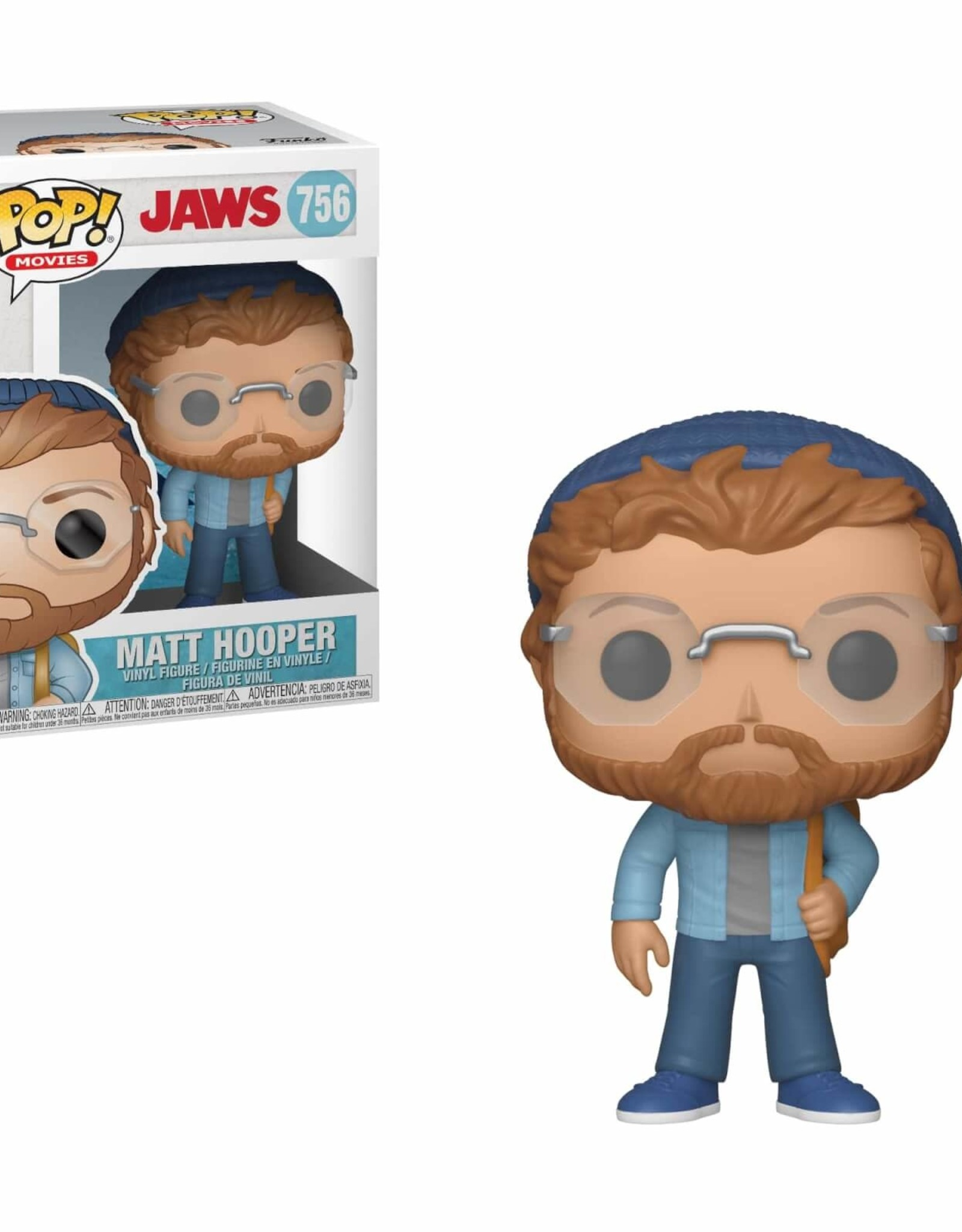FUNKO POP JAWS MATT HOOPER VINYL FIG