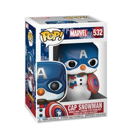FUNKO POP MARVEL HOLIDAY CAP SNOWMAN VINYL FIG