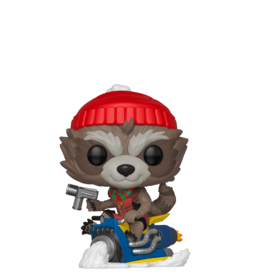 FUNKO POP MARVEL HOLIDAY ROCKET VINYL FIG