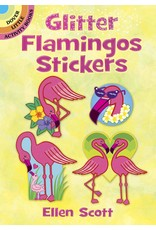 DOVER PUBLICATIONS GLITTER FLAMINGOS STICKERS