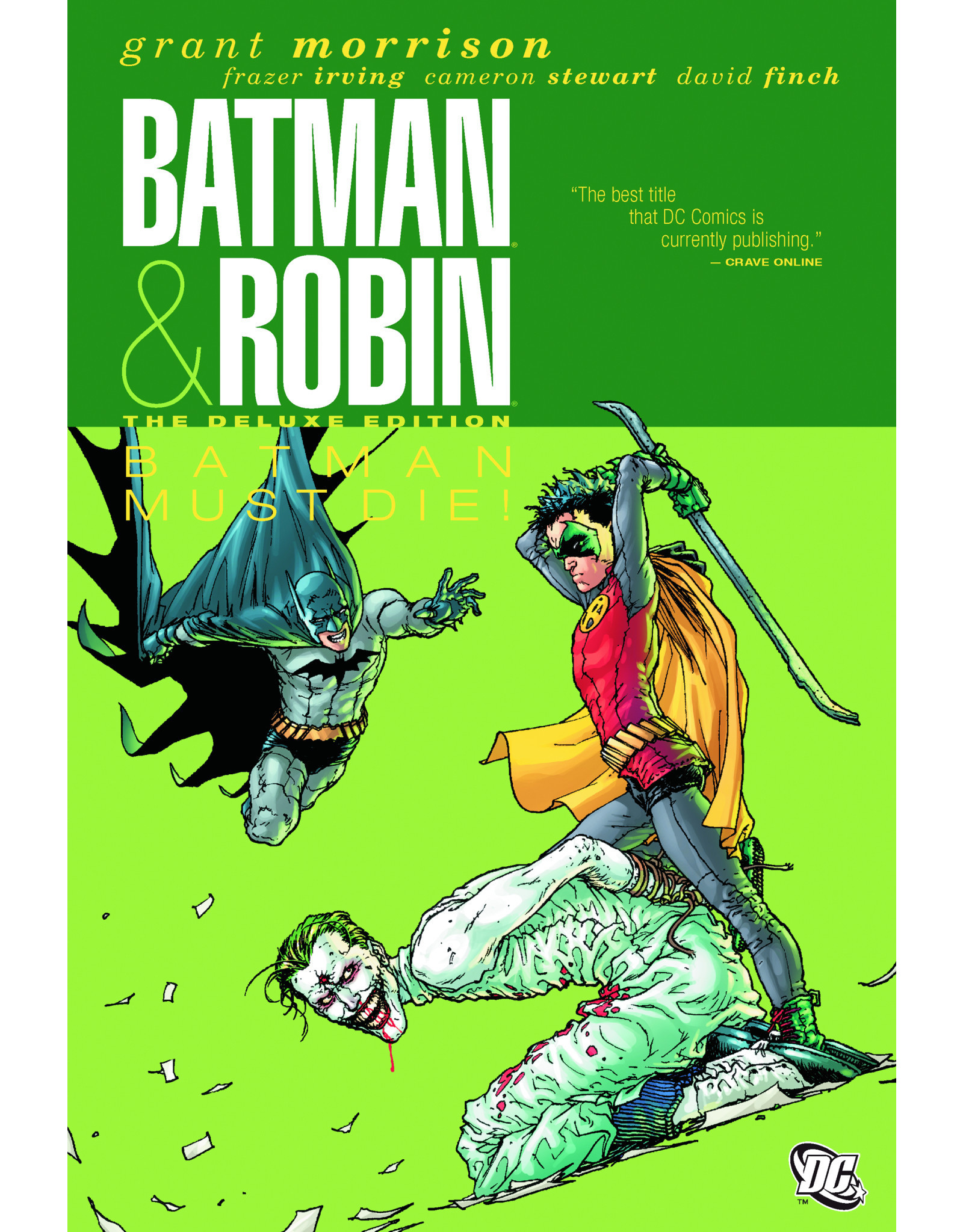 DC COMICS BATMAN AND ROBIN DELUXE HC VOL 03 BATMAN MUST DIE