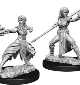 WIZKIDS D&D NOLZUR'S MARVELOUS FEMALE HALF-ELF MONK UNPAINTED MINI