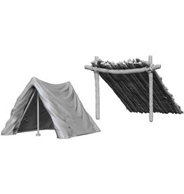 WIZKIDS DEEP CUTS UNPAINTED MINIS TENT & LEAN-TO