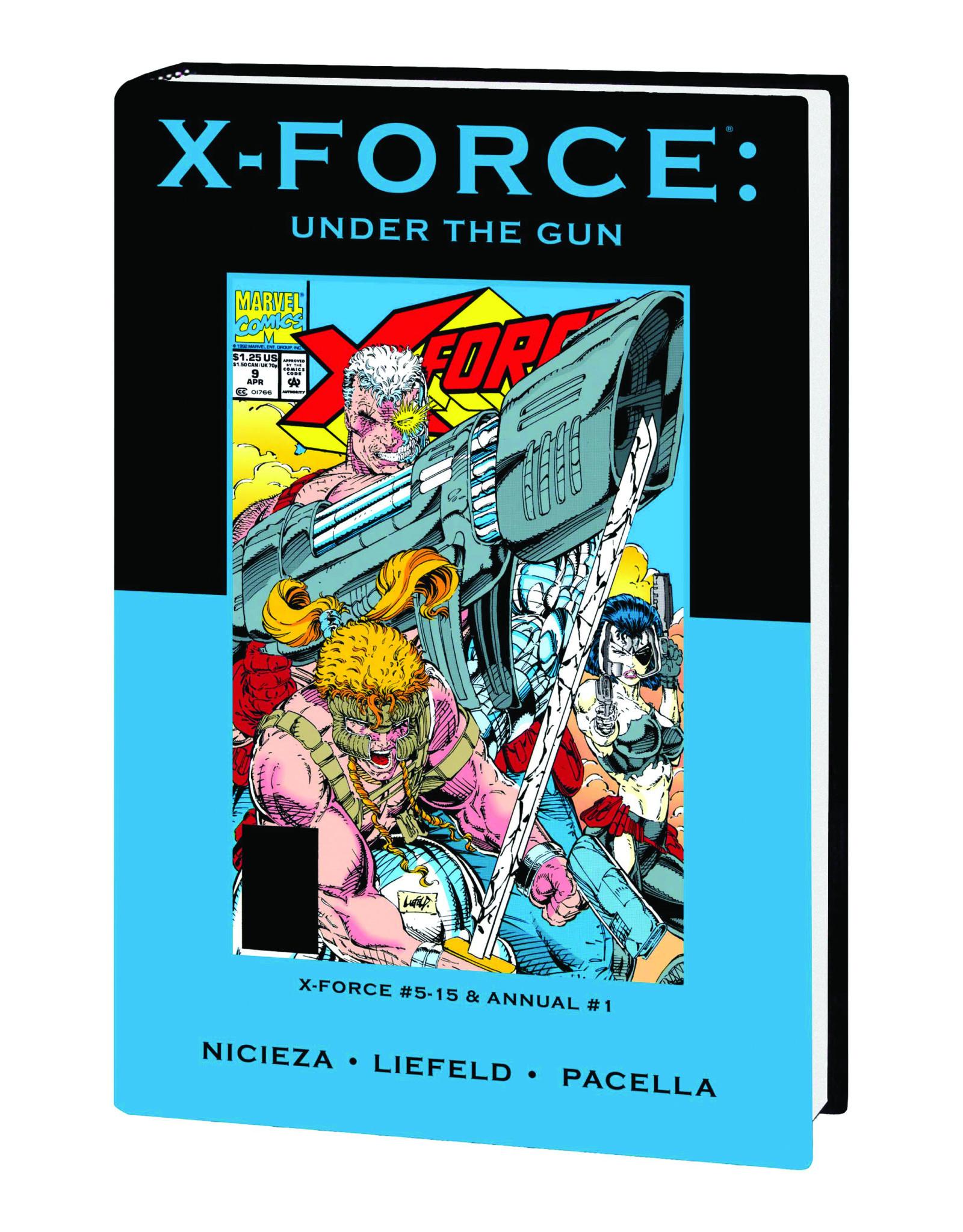MARVEL COMICS X-FORCE UNDER GUN PREM HC DM VAR ED 61