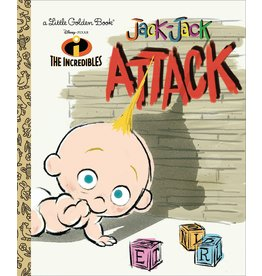JACK-JACK ATTACK (DISNEY/PIXAR THE INCREDIBLES) LITTLE GOLDEN BOOK