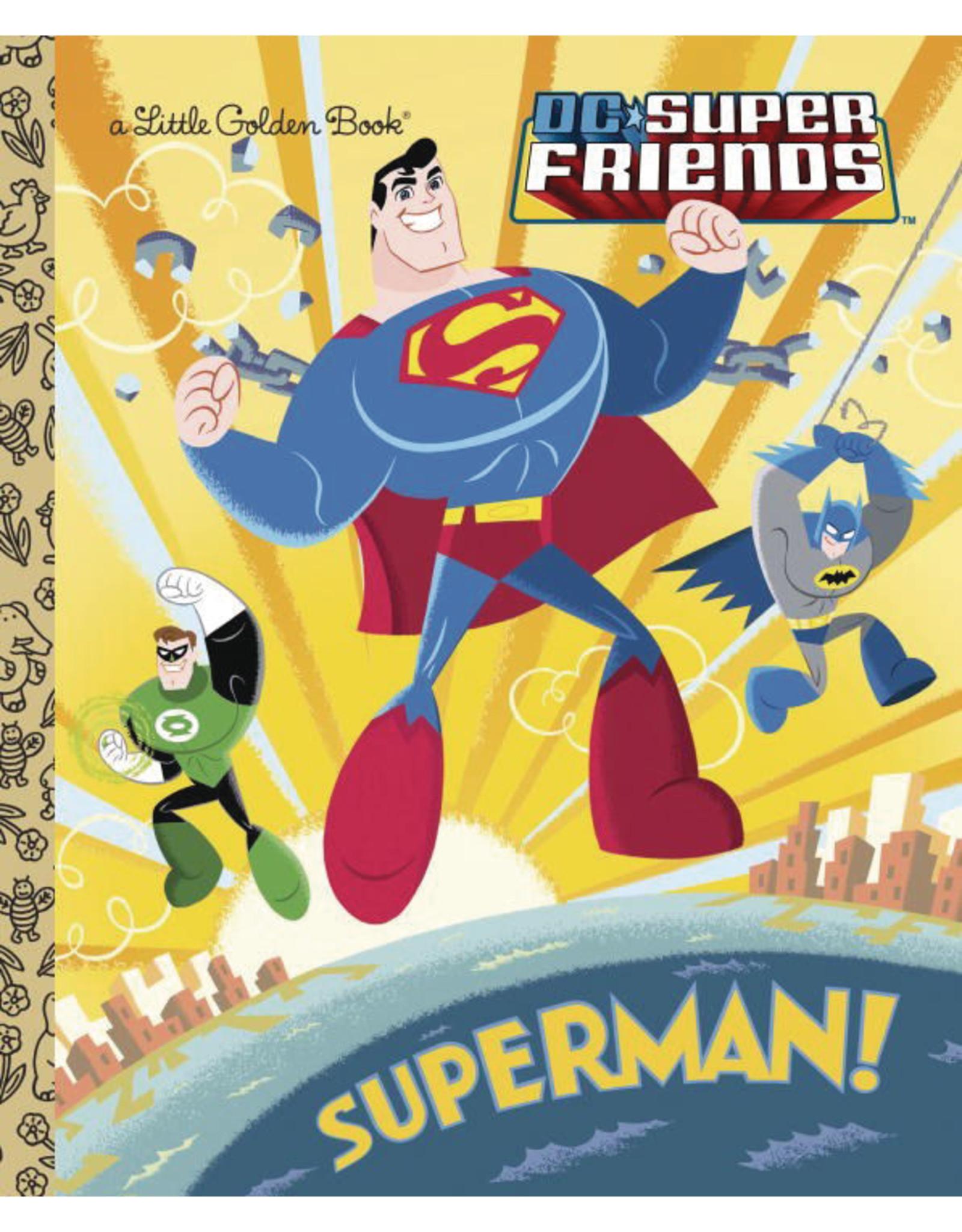 GOLDEN BOOKS DC SUPER FRIENDS SUPERMAN LITTLE GOLDEN BOOK HC
