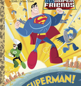 GOLDEN BOOKS DC SUPER FRIENDS SUPERMAN LITTLE GOLDEN BOOK HC