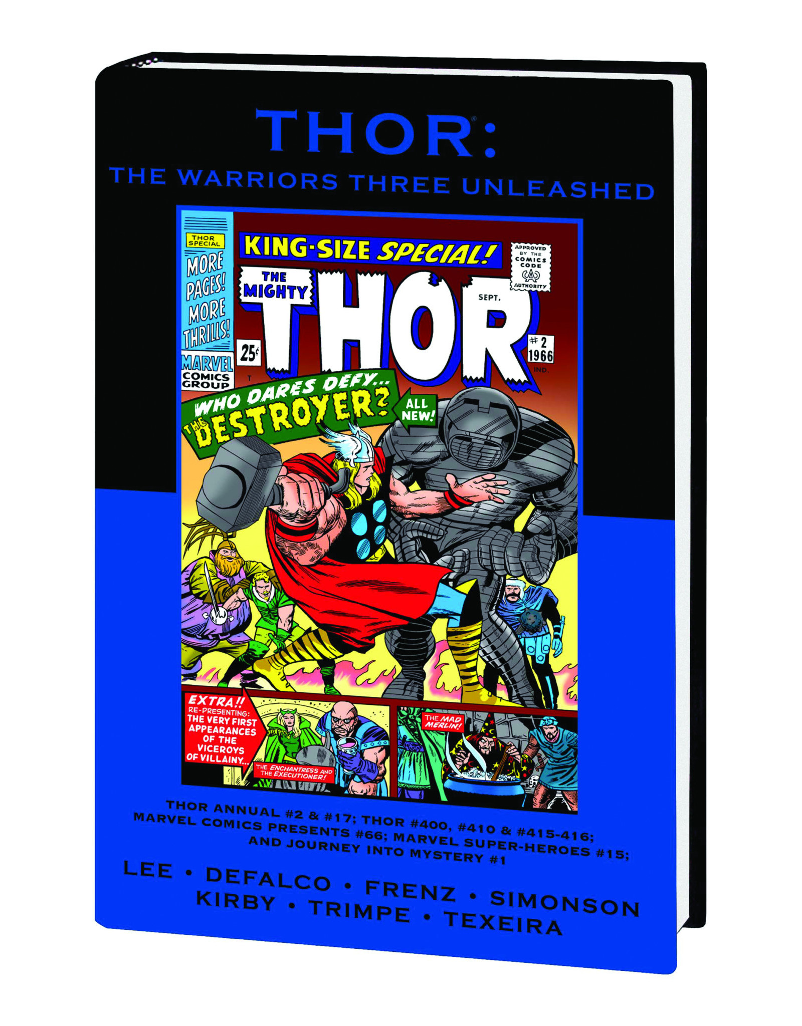 MARVEL COMICS THOR WARRIORS THREE UNLEASHED PREM HC DM VAR ED 63