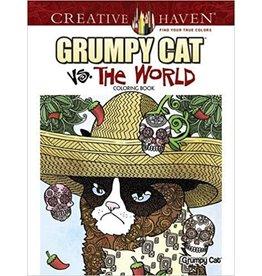 DOVER PUBLICATIONS GRUMPY CAT VS THE WORLD COLORING BOOK