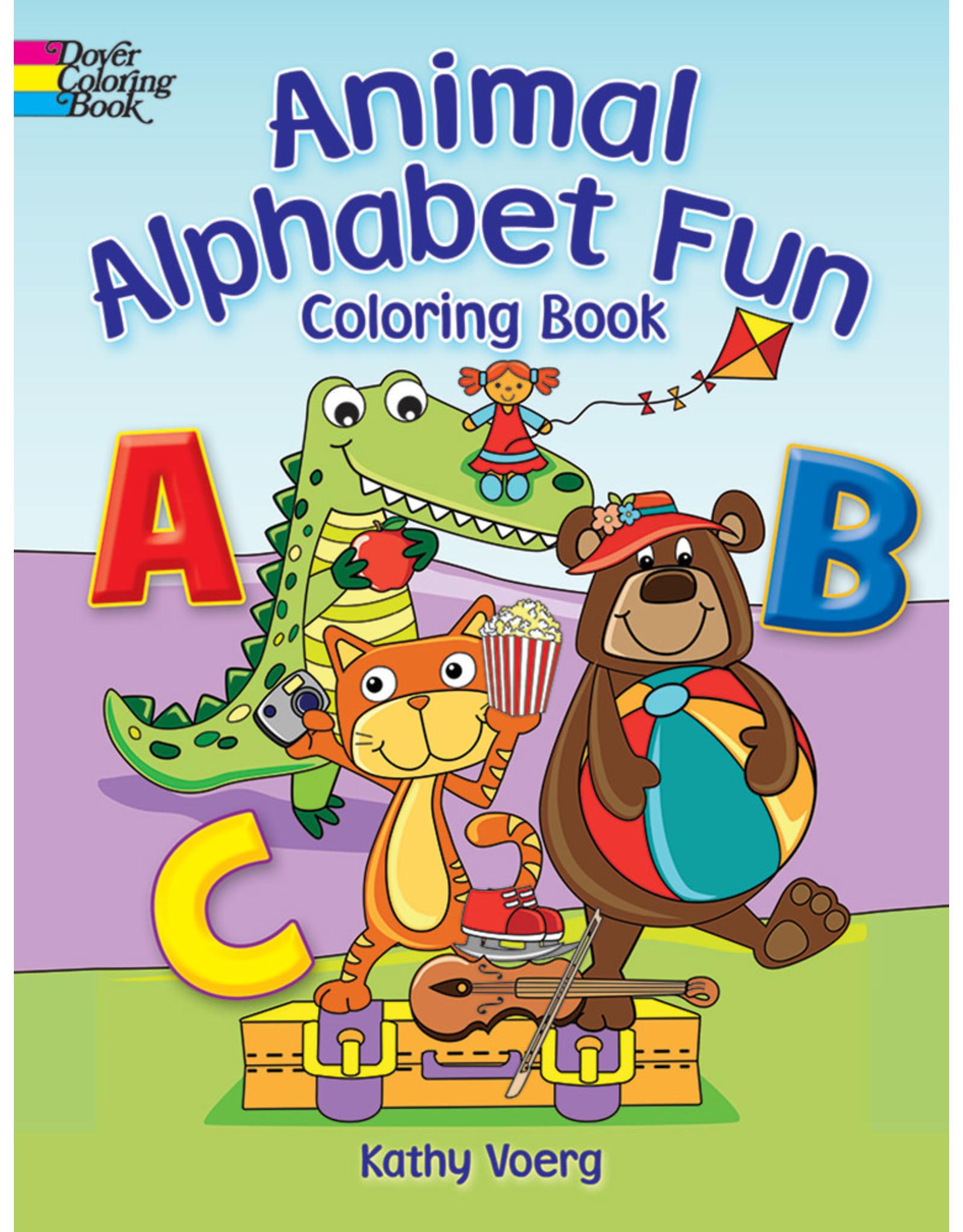 DOVER PUBLICATIONS ANIMAL ALPHABET FUN COLORING BOOK