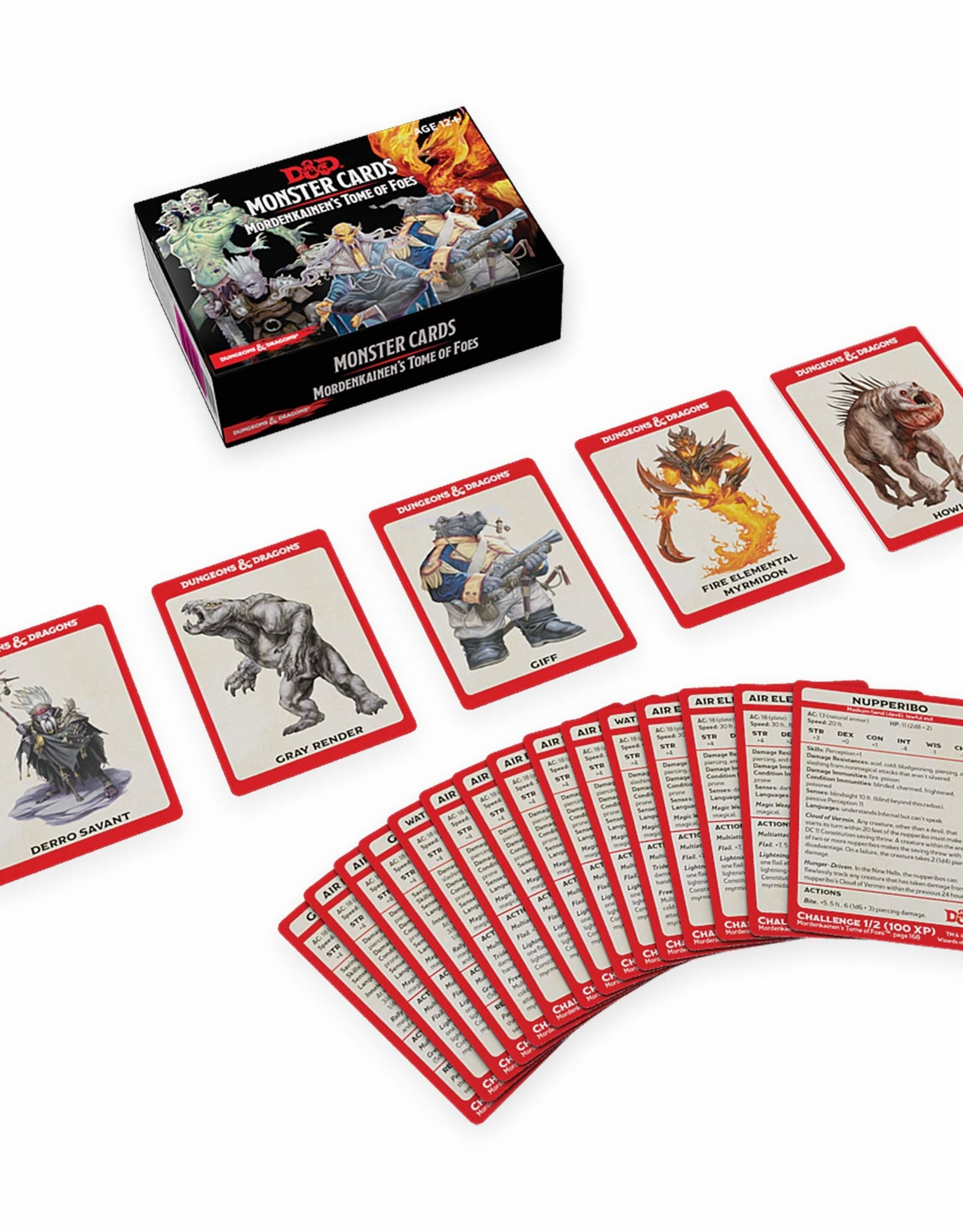 WIZARDS OF THE COAST D&D MORDENKAINENS MONSTER CARDS