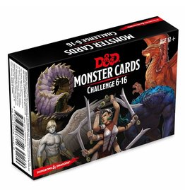 WIZARDS OF THE COAST D&D MONSTER CARDS CHALLENGE 6-16