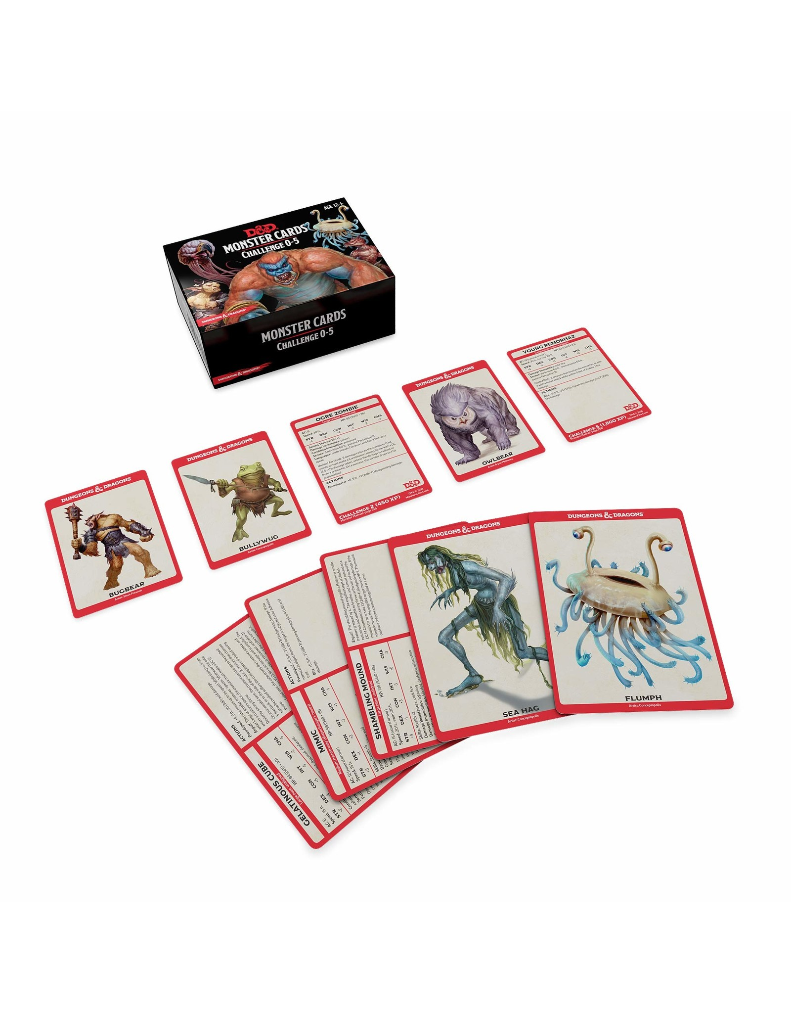 WIZARDS OF THE COAST D&D MONSTER CARDS CHALLENGE 0-5