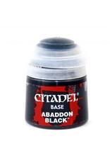 GAMES WORKSHOP CITADEL BASE ABADDON BLACK 12ML