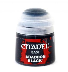 GAMES WORKSHOP CITADEL BASE ABADDON BLACK 12ML