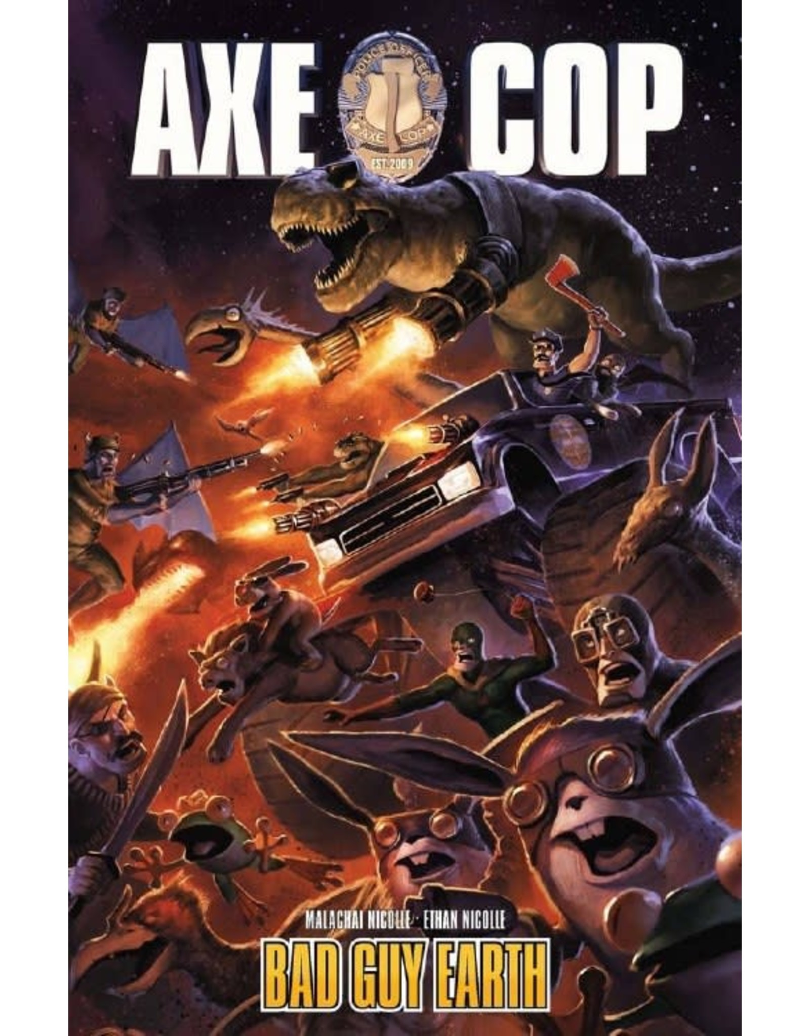 DARK HORSE COMICS AXE COP TP VOL 02 BAD GUY EARTH