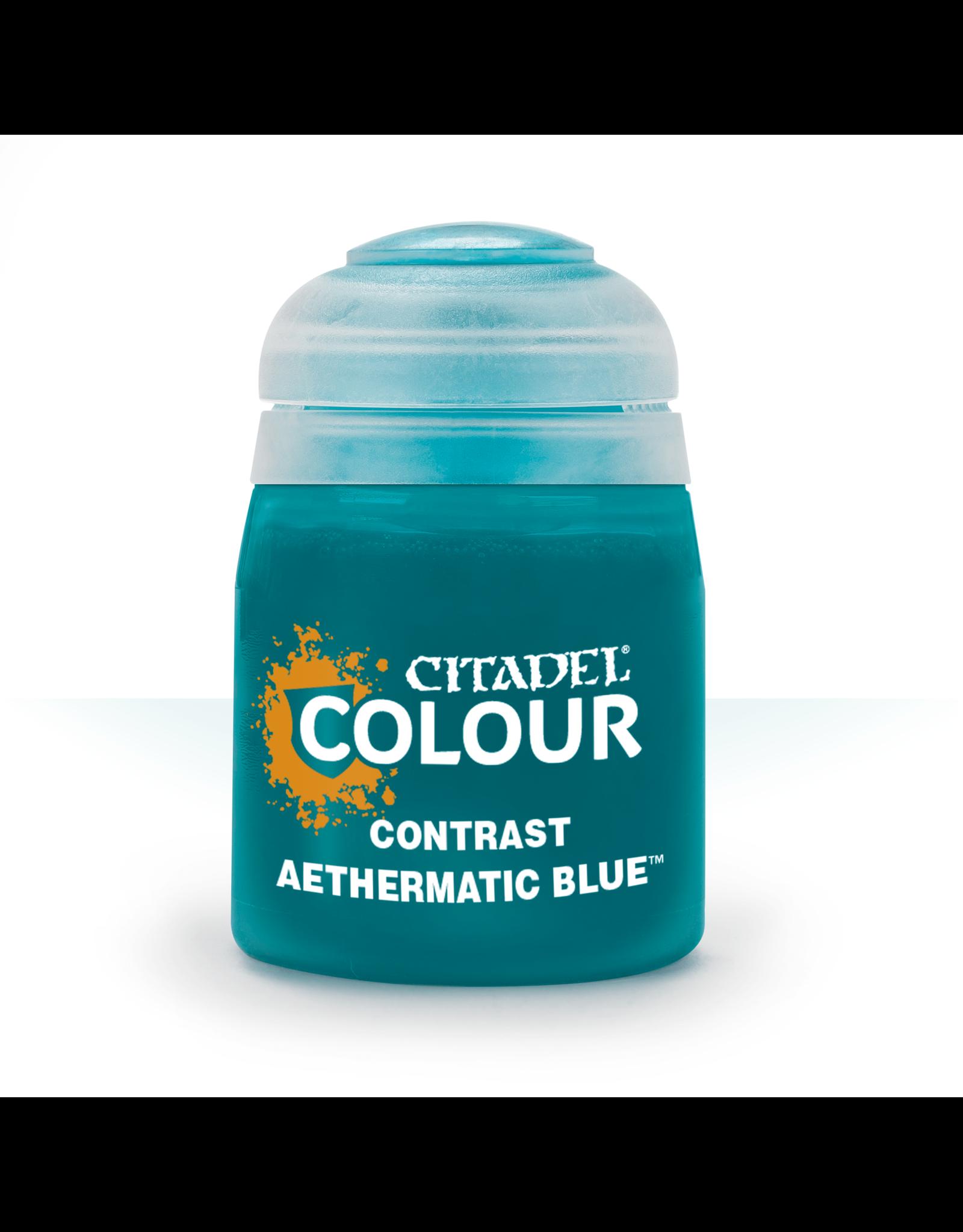GAMES WORKSHOP CITADEL COLOUR CONTRAST: AETHERMATIC BLUE (18ML)