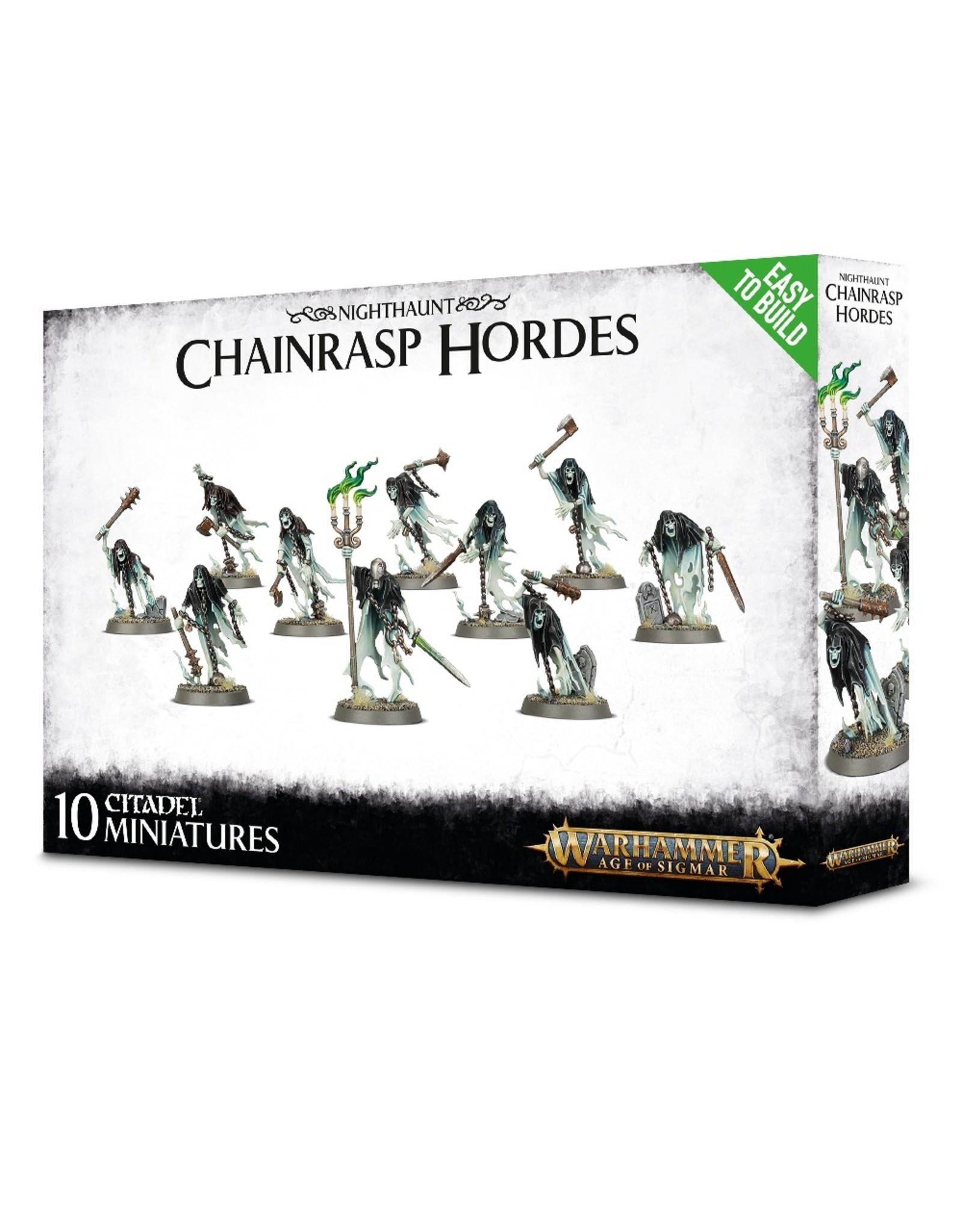 GAMES WORKSHOP WARHAMMER AGE OF SIGMAR EASY TO BUILD NIGHTHAUNT CHAINRASP HORDES