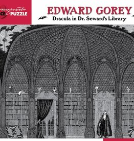 EDWARD GOREY DRACULA IN DR SEWARDS LIBRARY 500 PIECE PUZZLE