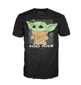 FUNKO FUNKO TEE MANDALORIAN CHILD LOOKING CYUTE T/S MED