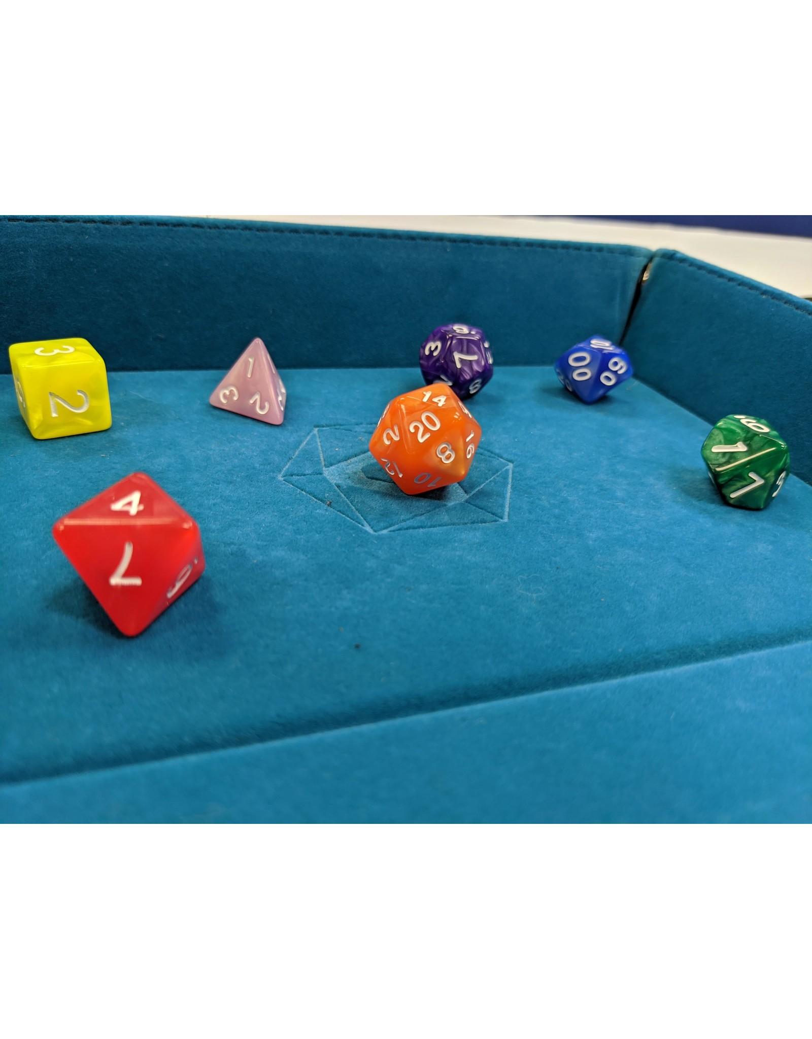 DIE HARD DICE DIE HARD DICE POLYMER RPG RAINBOW SWIRL MIX