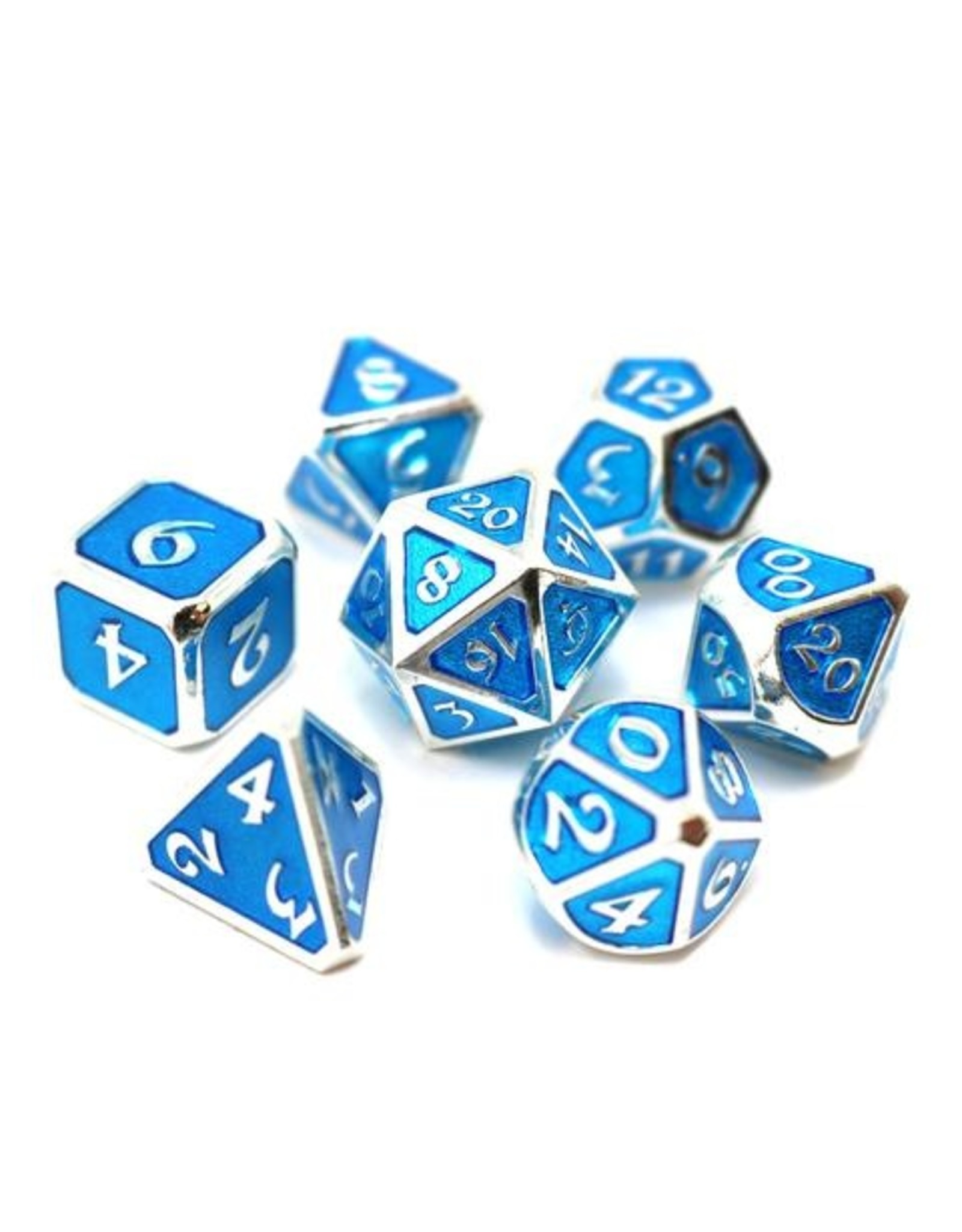 DIE HARD DICE DIE HARD DICE 7 CT RPG MYTHICA PLATINUM AQUAMARINE