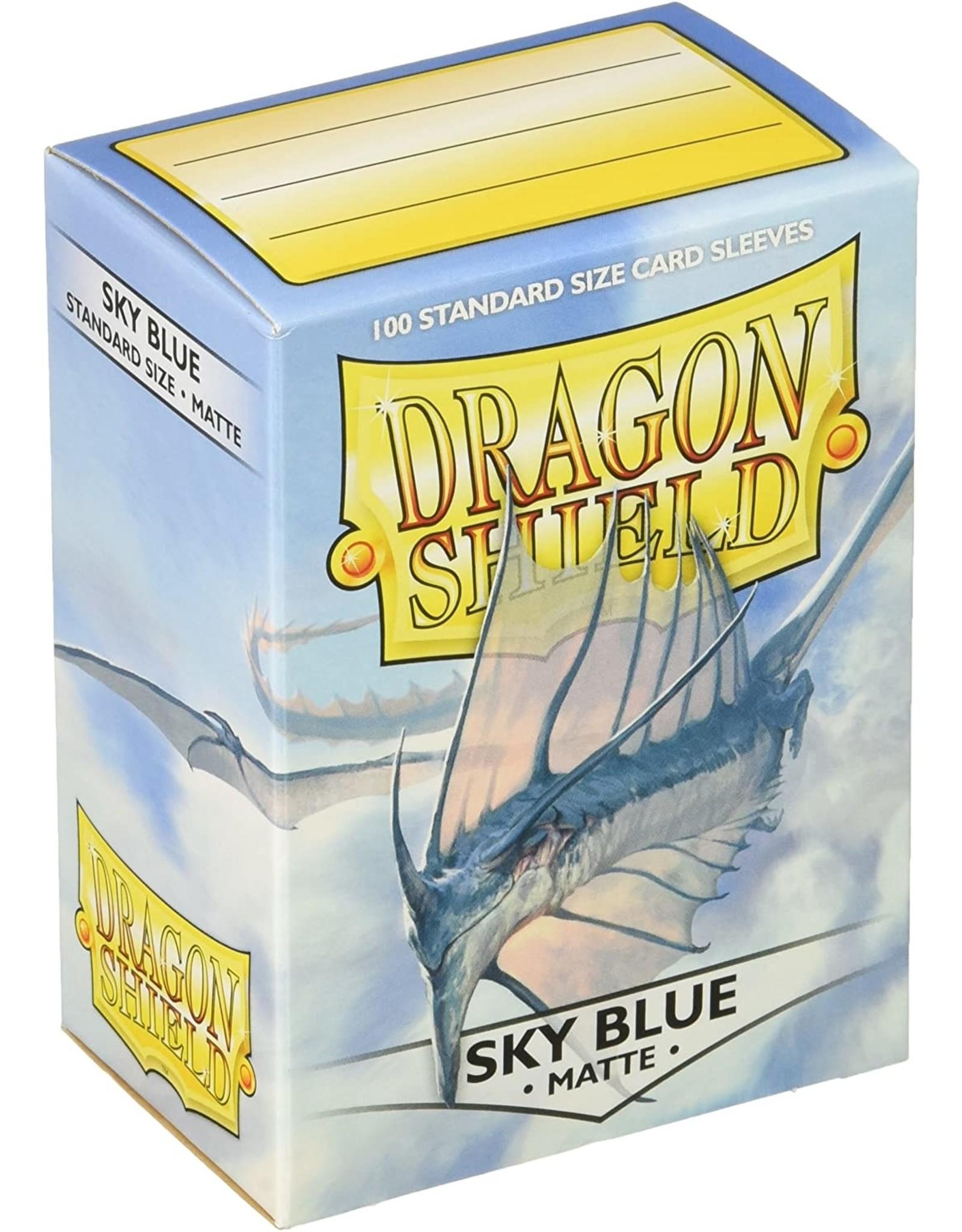 DRAGON SHIELD 100 CT SLEEVES MATTE SKY BLUE