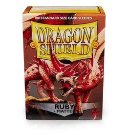 DRAGON SHIELD 100 CT SLEEVES MATTE RUBY