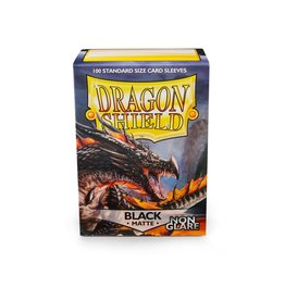 DRAGON SHIELD 100 CT SLEEVES MATTE NON-GLARE BLACK