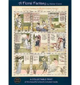 A&F PUZZLE COMPANY A FLORAL FANTASY 500 PIECE PUZZLE