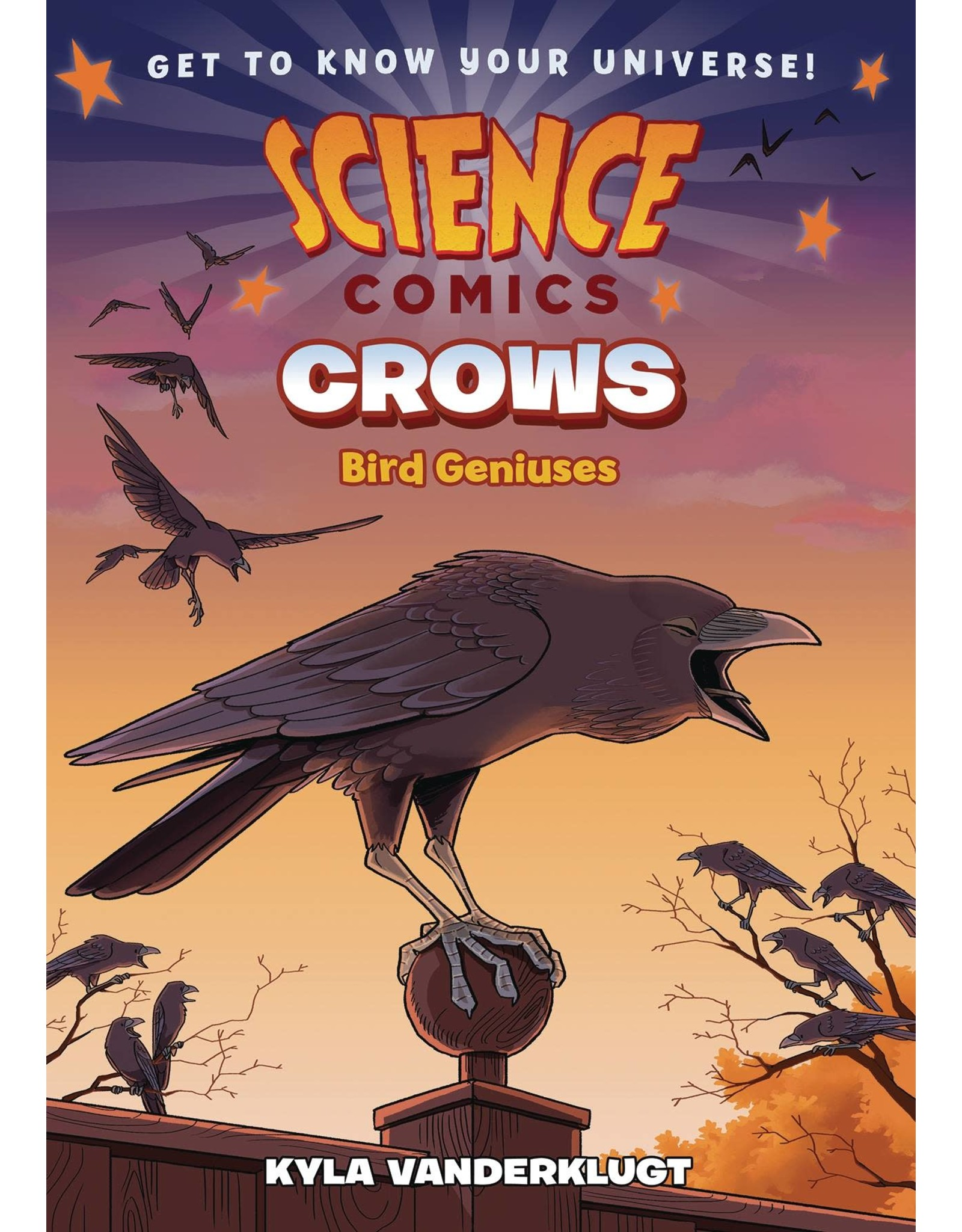 :01 FIRST SECOND SCIENCE COMICS CROWS GENIUS BIRDS GN