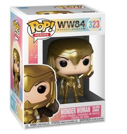 FUNKO POP HEROES WONDER WOMAN 1984 WONDER WOMAN IN GOLDEN ARMOR
