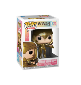 FUNKO POP HEROES WONDER WOMAN 1984 WONDER WOMAN IN GOLDEN ARMOR FLYING