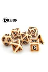 DIE HARD DICE DIE HARD DICE POLYMER RPG SET - BONE ANCIENT