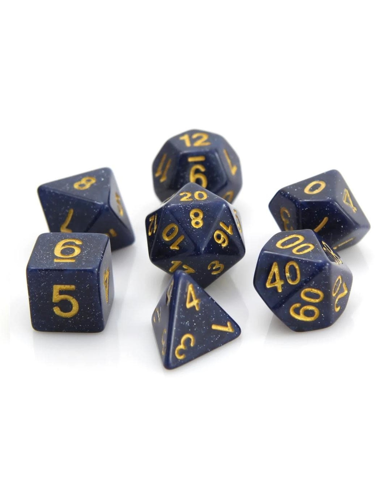 DIE HARD DICE DIE HARD DICE 7 CT RPG DICE SET - BLUE GALAXY