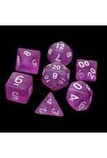 DIE HARD DICE DIE HARD DICE 7 CT RPG DICE SET SAKURA W/ WHITE
