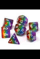 DIE HARD DICE DIE HARD DICE 7 CT RPG DICE SET PRISMATIC RAINBOW