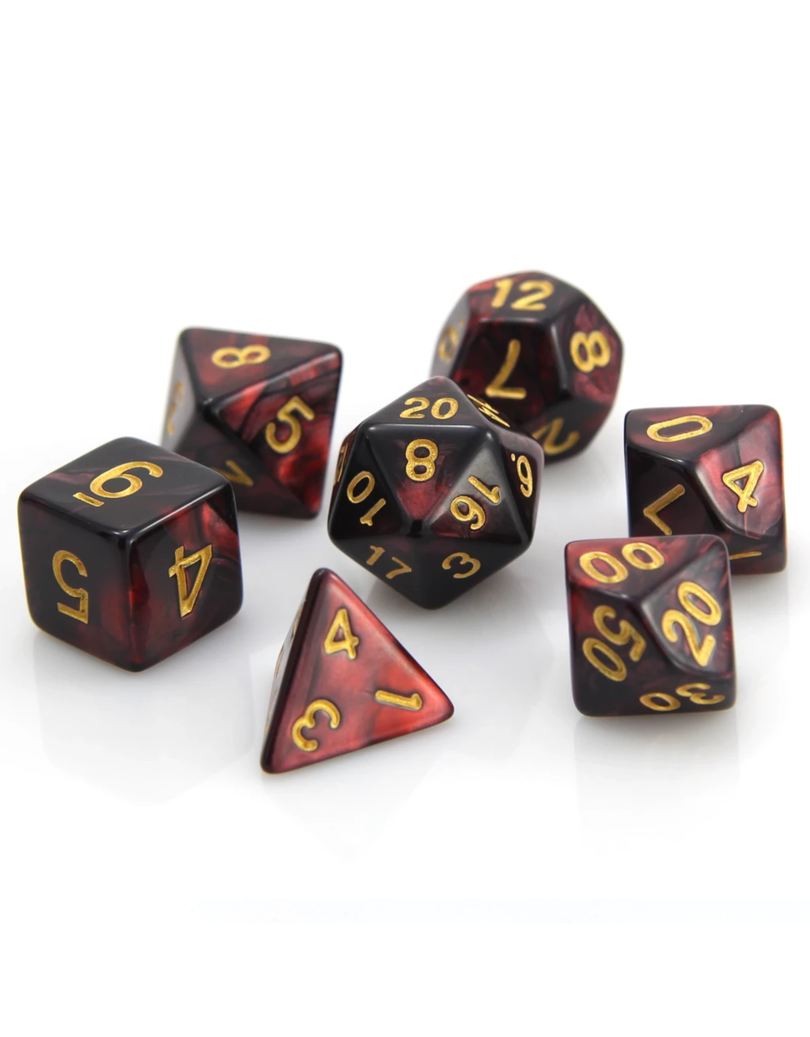 DIE HARD DICE DIE HARD DICE 7 CT RPG DICE SET GLOWING EMBERS